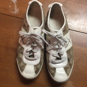 Leather Coach tennis shoes